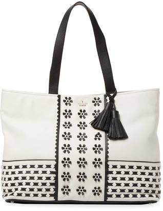 Kate Spade Leather Floral Tote