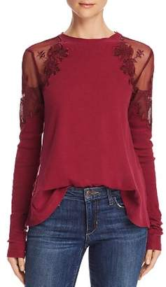 Free People Daniella Sheer-Shoulder Top