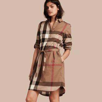 Burberry Check Cotton Shirt Dress $595 thestylecure.com