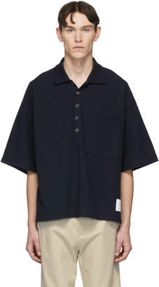 Thom Browne Navy Oversized Classic Polo