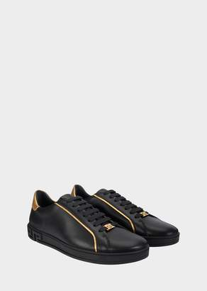 Versace Medusa Gold Trim Sneakers