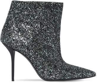 Saint Laurent 95mm Pierre Glittered Ankle Boots
