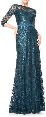 Tadashi Shoji Embroidered Lace Gown $508 thestylecure.com