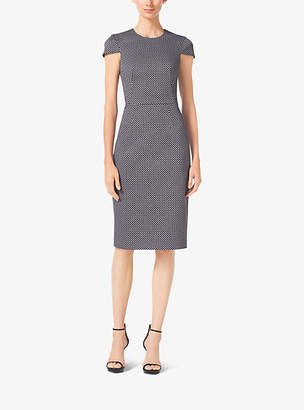 Michael Kors Mini Diamond Cotton-Broadcloth Sheath Dress