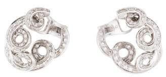 Damiani 18K Diamond Swirl Earrings