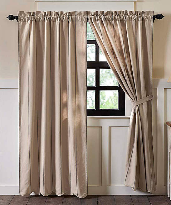 Slate Charlotte Scalloped Linen-Cotton Blend Curtain - Set of Two