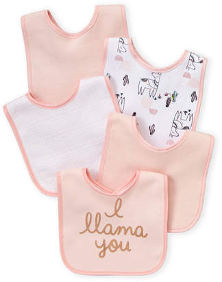 Baby Essentials Chick Pea (Newborn/Infant Girls) 5-Pack Llama Bib