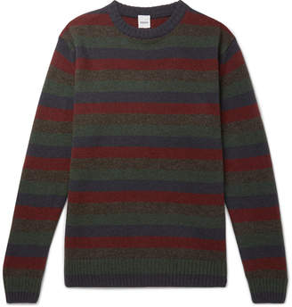 Aspesi Slim-Fit Striped Yak and Wool-Blend Sweater