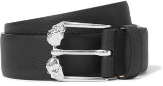 Alexander McQueen 3.5cm Full-Grain Leather Belt - Black
