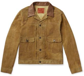 Rrl Leather-Trimmed Suede Jacket