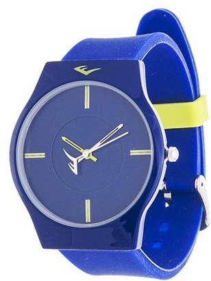 Everlast Analog Monochrome Sports Watch, Blue Silicone Strap