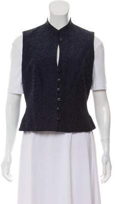 Halston Silk-Blend Embroidered Vest