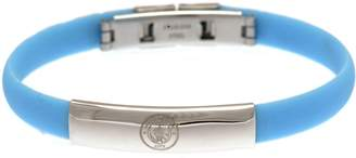 Manchester City Stainless Steel and Rubber Man City Bracelet.