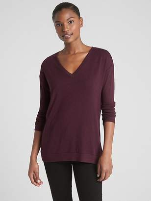 Gap Softspun V-Neck Pullover Sweater Tunic