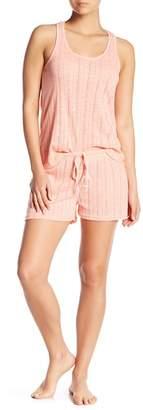 Tahari Pointelle Knit Racerback & Shorts Pajama 2-Piece Set