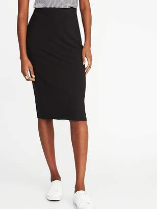 Old Navy Fitted Jersey-Knit Pencil Skirt for Women