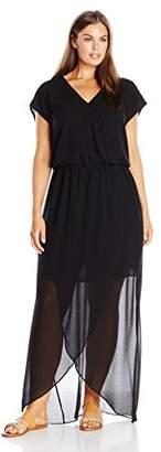 Single Dress Women's Plus Size Flutter Sleeve Maxi $220.50 thestylecure.com
