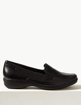 e6b892db111 at Marks and Spencer · M S Collection Wide Fit Leather Wedge Heel Loafers
