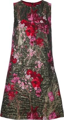 Dolce & Gabbana floral brocade mini dress