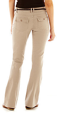 JCPenney Bebop Belted Twill Pants