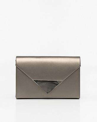 Le Château Metallic Leather-Like Envelope Clutch
