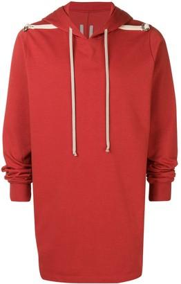 Rick Owens long-length hoodie
