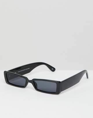 Asos DESIGN small rectangular frame sunglasses
