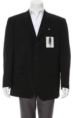 Oscar de la Renta Woven Three-Button Blazer w/ Tags