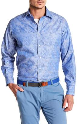 Thomas Dean Floral Long Sleeve Shirt