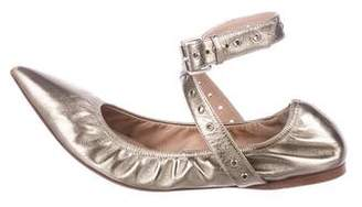 Valentino Metallic Leather Flats