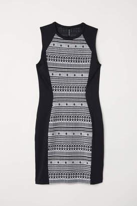 H&M Sleeveless Jersey Dress - Black/white - Women
