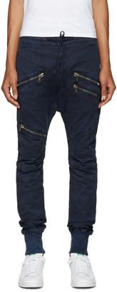 Pierre Balmain Navy Zip Trousers $775 thestylecure.com
