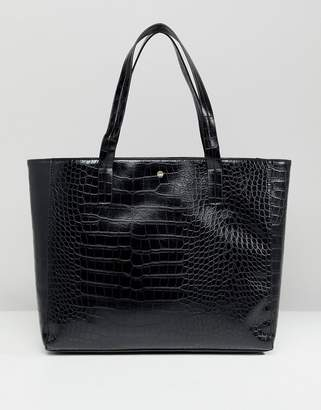 Lipsy Faux Croc Tote Bag