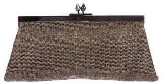 Loewe Knit Kiss-Lock Clutch