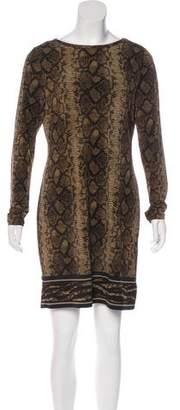 MICHAEL Michael Kors Snakeskin Patterned Mini Dress