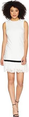Calvin Klein Women's Sleeveless Shift Dress with Lace Hem