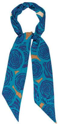 Diane von Furstenberg Abstract Print Silk Scarf $65 thestylecure.com