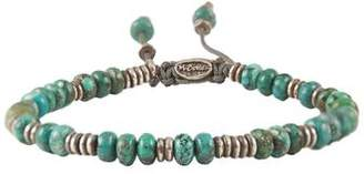 M. Cohen Templar Sterling Disc And Stacked Turquoise Bracelet