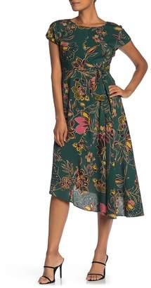 Donna Morgan Asymmetrical Hem Stretch Crepe Dress