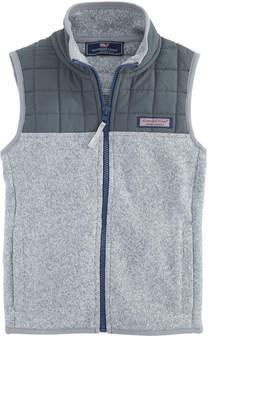 Vineyard Vines Boys Sweater Fleece Quilted Vest