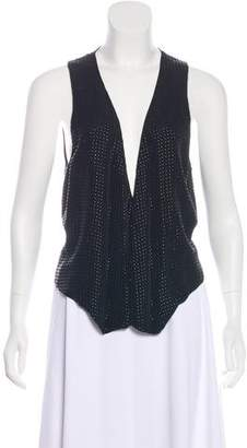 L'Agence Sleeveless Studded Top