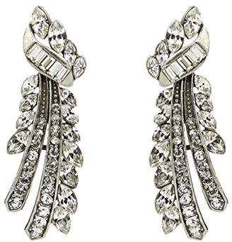 Ben-Amun Jewelry Deco Crystal Branch Post Earrings for Bridal Wedding Anniversary