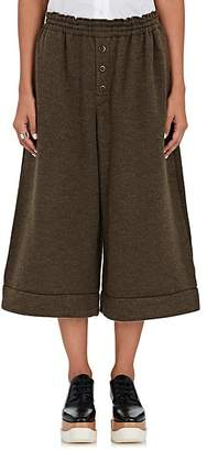 Yohji Yamamoto Regulation Women's Knit Wide-Leg Crop Pants