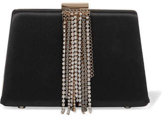 Lanvin - Embellished Satin Clutch - Black $3,795 thestylecure.com
