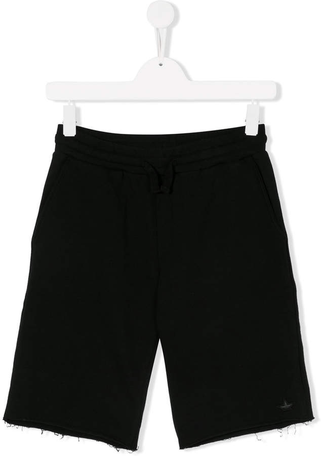 Macchia J Kids frayed running shorts