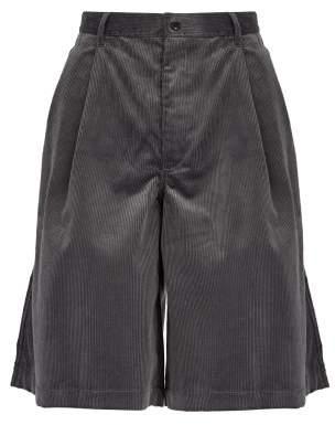 Comme Des Garçons Shirt - Cotton Corduroy Shorts - Mens - Grey