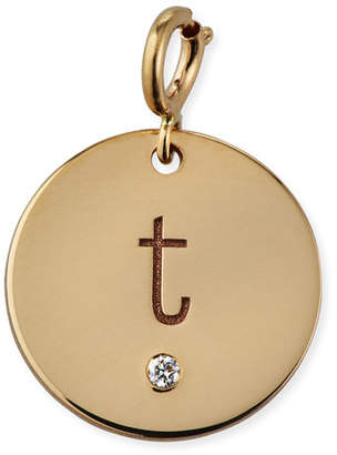 Chicco Zoe Personalized 14k Medium 1-Diamond Initial Disc Pendant
