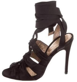 Derek Lam Satin Cage Sandals