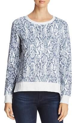 Andrew Marc Snake-Print Cotton Sweatshirt