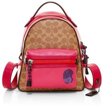 Coach Campus 23 Signature Canvas & Leather Backpack